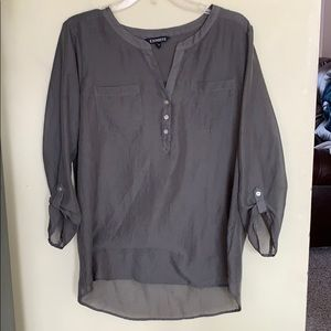 Olive Green Top from Express
